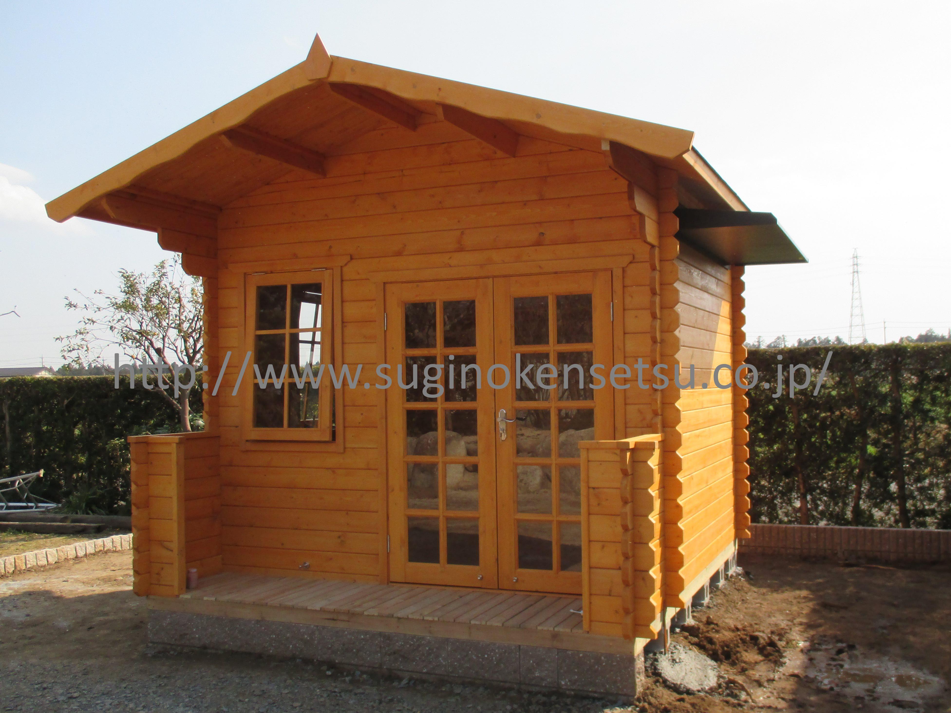 木製小屋外観