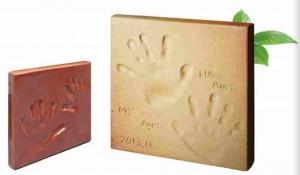 世界に一つしかないオリジナル表札『モニュメントプレート』手形