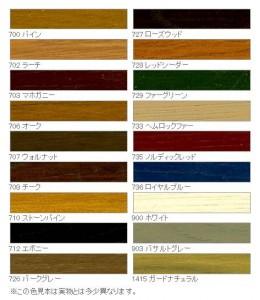 天然木ウッドデッキのお手入れに外装用塗装『ウッドステインプロテクター』カラー