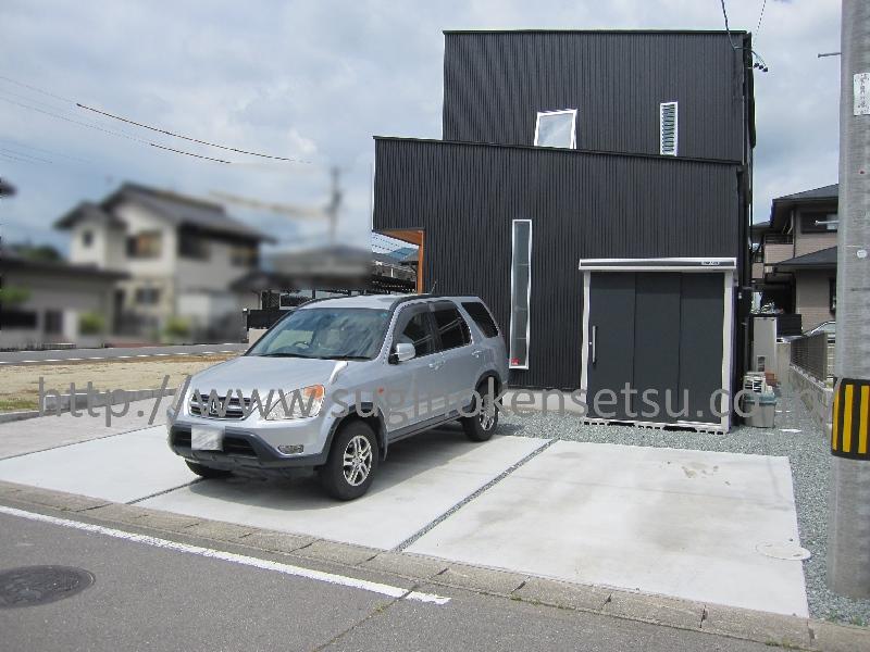 駐車スペース 施工後/ 物置 ヨド エルモ LMC-1808GL