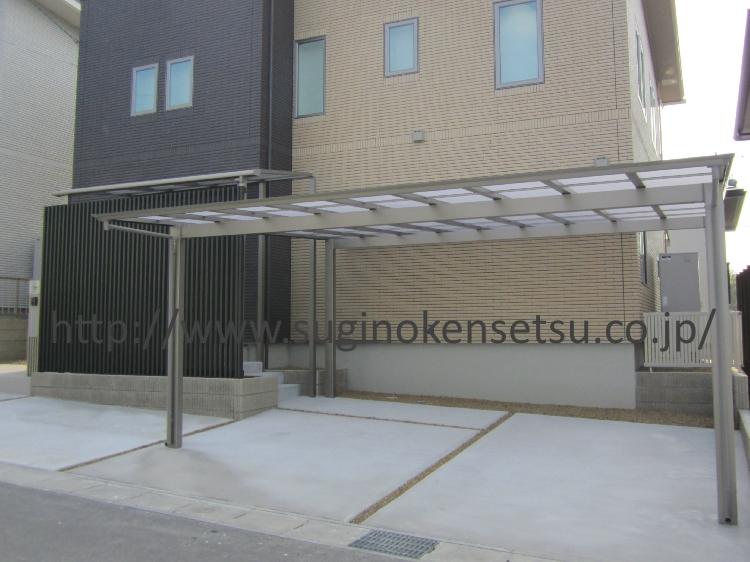 施工後 正面/駐車スペース