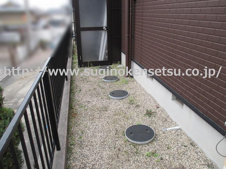 建物周り防草対策施工前