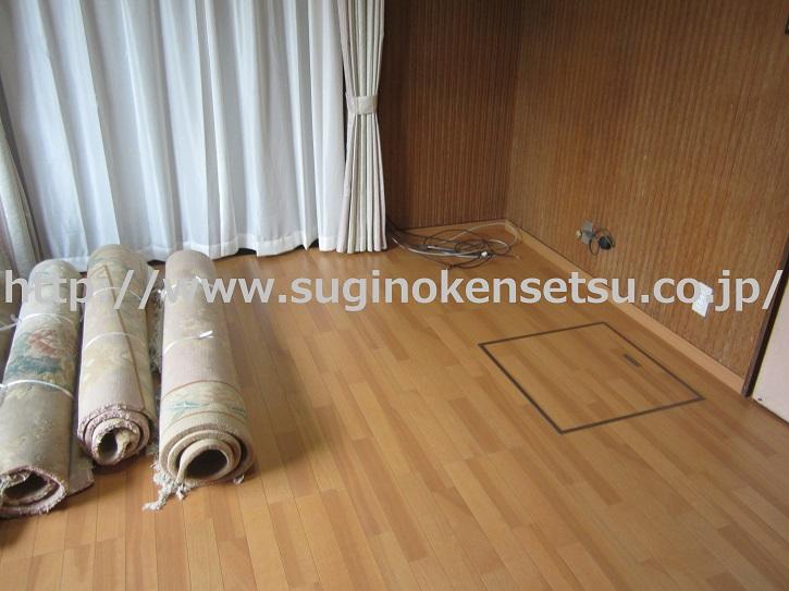 洋室床修繕後2