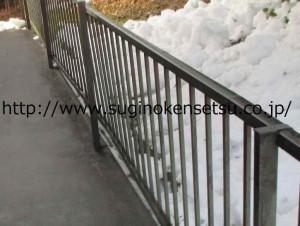フェンス雪被害