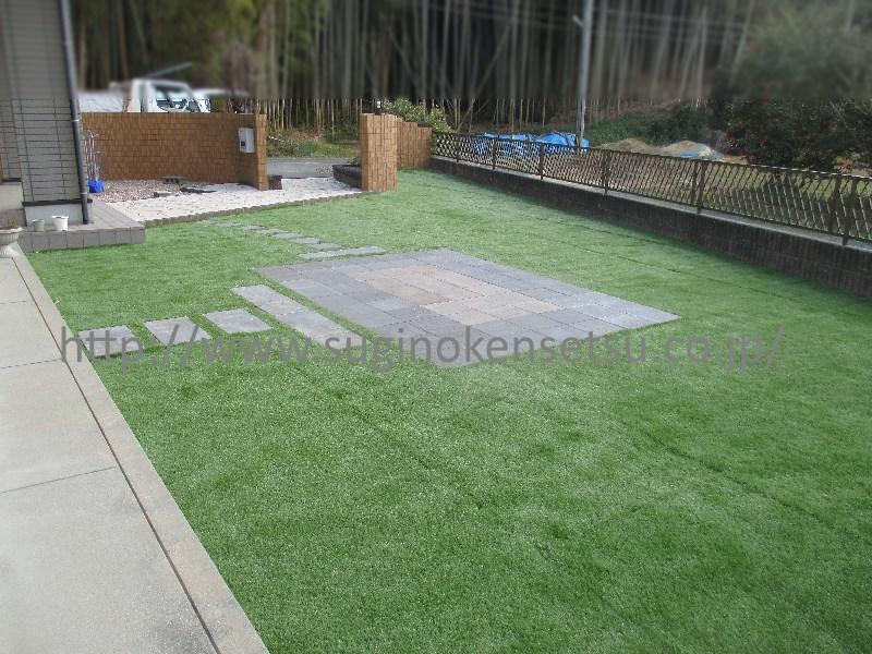 人工芝敷き(施工後)2