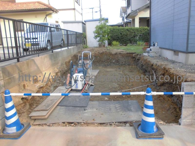 施工中 掘削